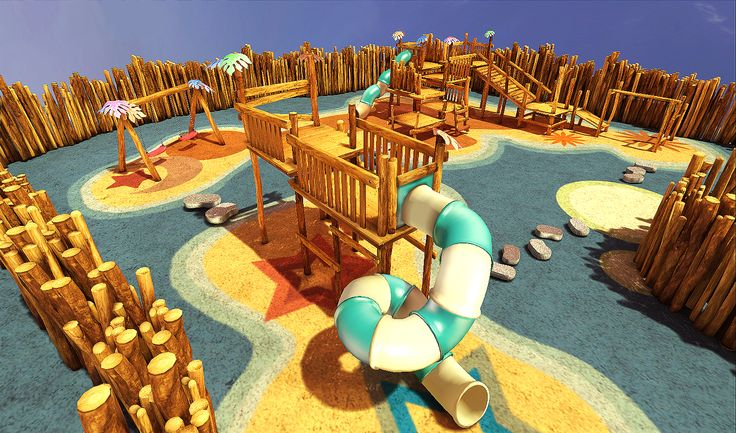 Playground, The final scene was rendered in UDK.