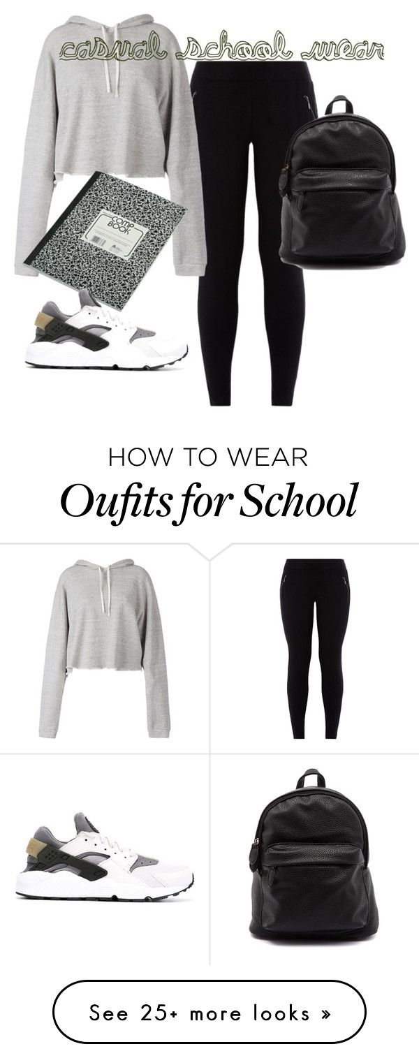 casual school wear by craytonmel on polyvore featuring faith connexion and nike