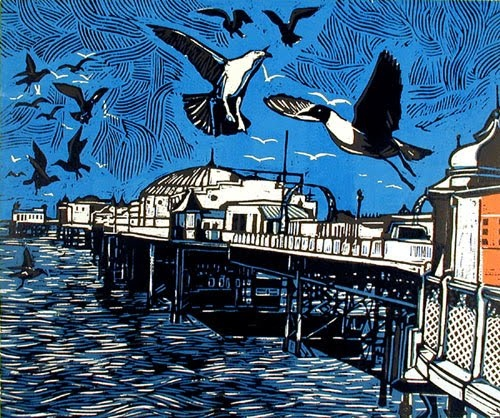 Graham Rigby Brighton pier lino print (not for my room just for the general house I thought it was nice)