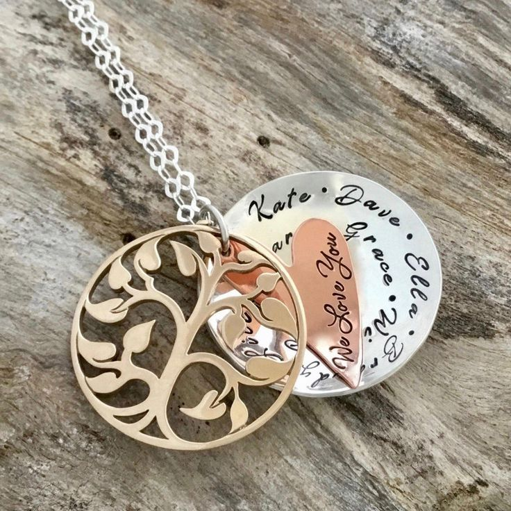 This bronze, copper and sterling silver Tree of life locket that is layered in love is sure to make her happy, a gift she will cherish. Front of Locket displays a cut out tree of life made of solid Bronze. Each piece rest together perfectly creating the allure of a locket. When opened inner layer i