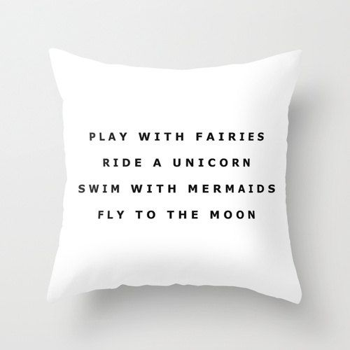 Play With Fairies Throw Pillow 16 x 16 by KOLESONACCESSORIES in any color but white!