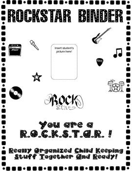 PDF Packet includes:  -Rock Star Binder Cover -Rock Star Binder Spine -Rock Star of the Week -40 Book Challenge  If you would like to include a calendar in your binder, it can be found in my store (It's free!)