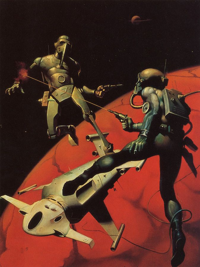 Battle for the Red PLanet, art by Ken Kelly (New Retro Sci-Fi)