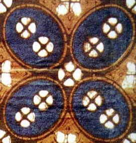 Batik Fabric, Patterns Kawung. Historical kawung motif batik cloth