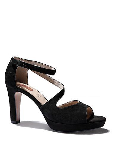 Sling-Sandalette aus Velours-Leder von s.Oliver. Entdecken Sie jetzt topaktuelle Mode für Damen, Herren und Kinder online und bestellen Sie versandkostenfrei.