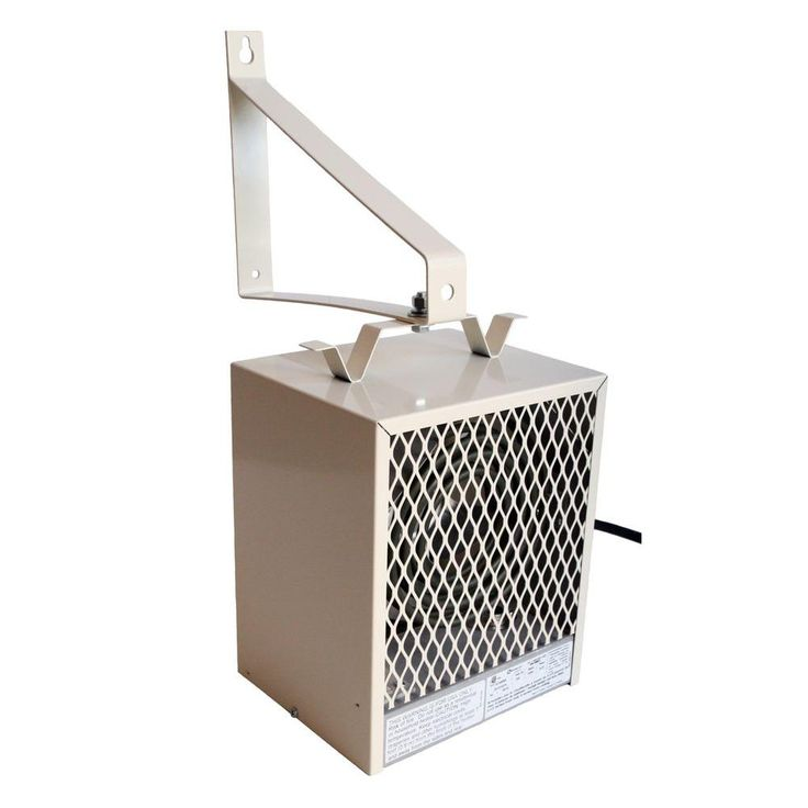 4,000-Watt Fan Forced Wall or Ceiling Mounted Garage and Shop Heater, Brown