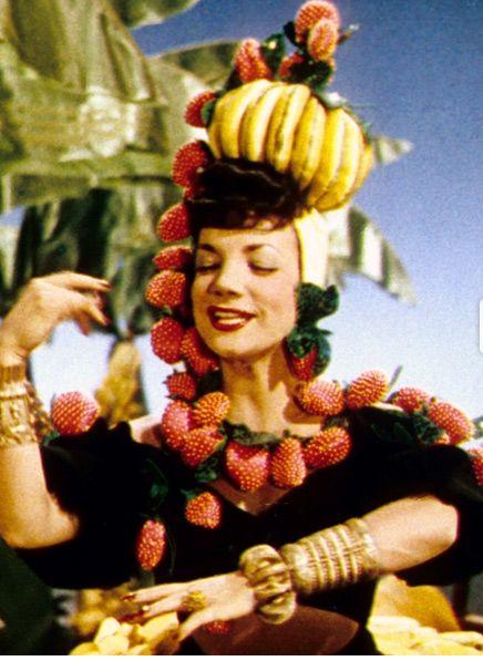 Carmen Miranda wearing fruit
