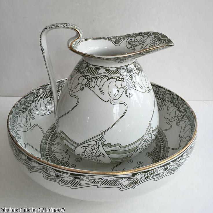 665 best wash basin pitcher sets images on pinterest bowl set powder room and water jugs. Black Bedroom Furniture Sets. Home Design Ideas