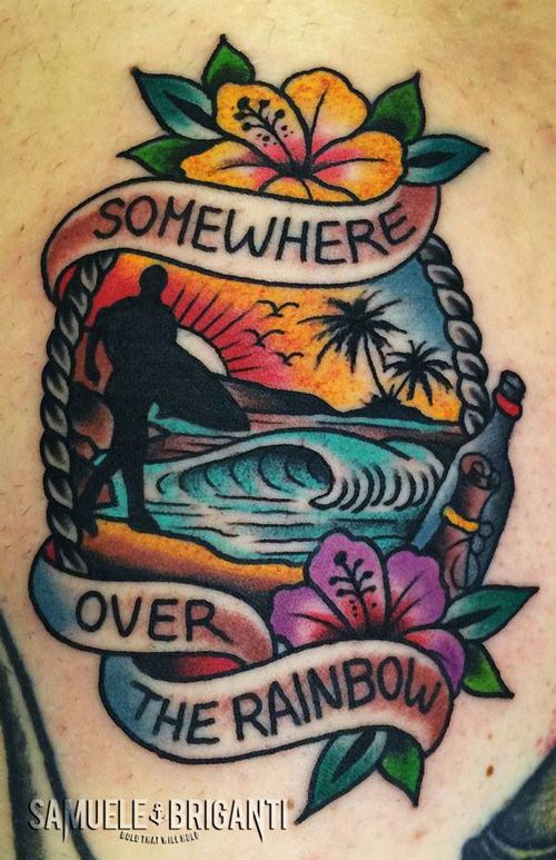 overthesurfer SOMEWEAR OVER THE RAINBOW- Samuele Briganti Tattoo Artist #lesdoitmagazine #tattoo