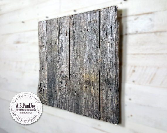 Rustic Pallet Wall Art Natural Grey Barn Wood Wall Hanging Shabby Chic Home Decor Reclaimed Wood Blank Sign Holiday Wreath Display Hanging Wall Art Barn Wood Art Wood Wall Art