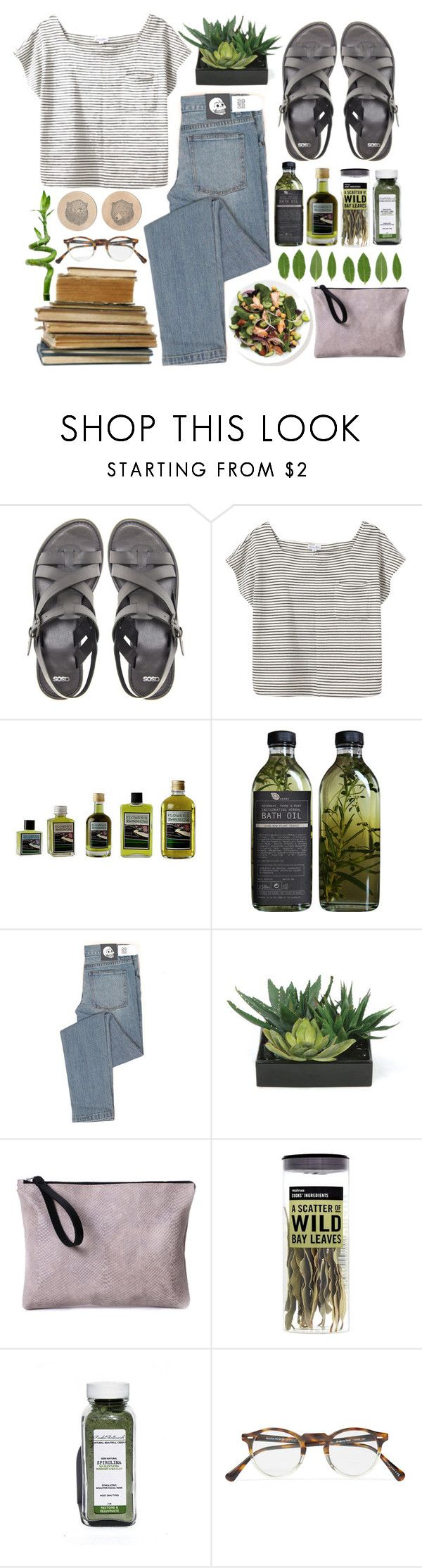 """""""maybe"""" by ahvela ❤ liked on Polyvore featuring ASOS, Steven Alan, PLANT, Cheap Monday, Lux-Art Silks, Asya Malbershtein and Oliver Peoples"""