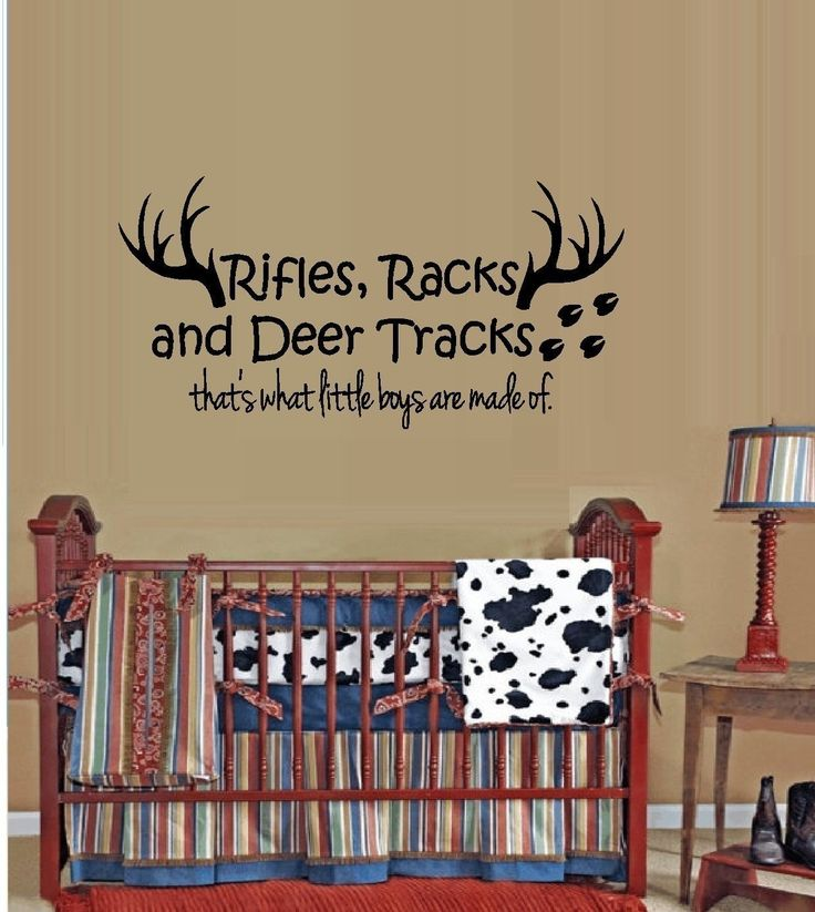 Wall Decor Stickers Pinterest : Rifles racks and deer tracks that s what little boys are