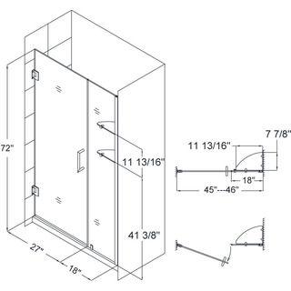 DreamLine Unidoor 45-46-inch Frameless Hinged Shower Door   Overstock.com Shopping - Big Discounts on DreamLine Shower Doors  $775