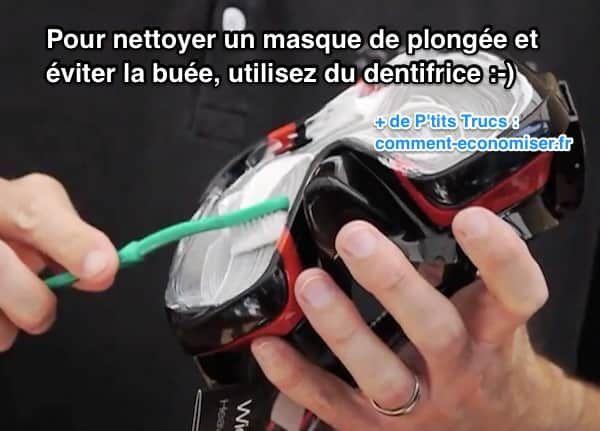 Marre d'avoir de la buée dans votre masque de plongée ? L'astuce est de nettoyer votre masque avec du dentifrice. Regardez :-)  Découvrez l'astuce ici : http://www.comment-economiser.fr/comment-nettoyer-masque-de-plongee-avec-du-dentifrice.html?utm_content=buffer3c659&utm_medium=social&utm_source=pinterest.com&utm_campaign=buffer