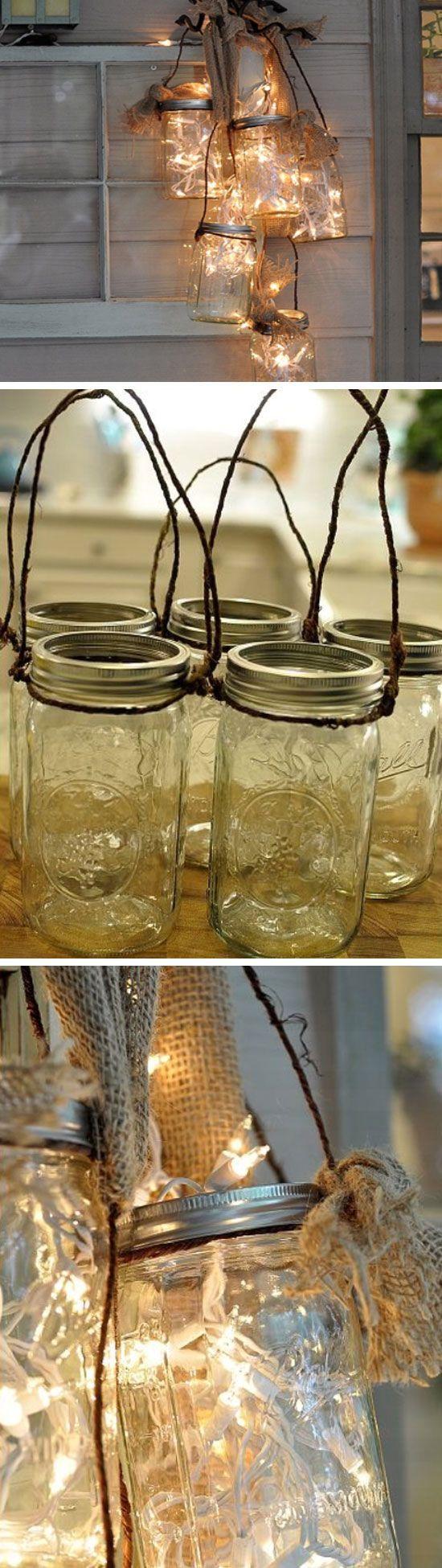 how to make mason jar lights for outside