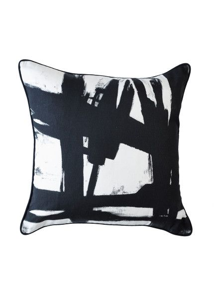 David Jones Greg Natale For One Duck Two Black Paint Cushion