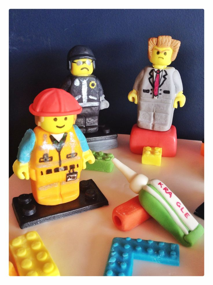 The lego movie fondant characters