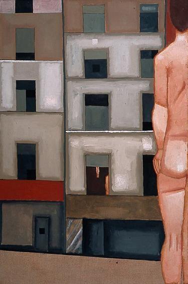 Jerzy Nowosielski, Akt w pejzażu miejskim, 1972.
