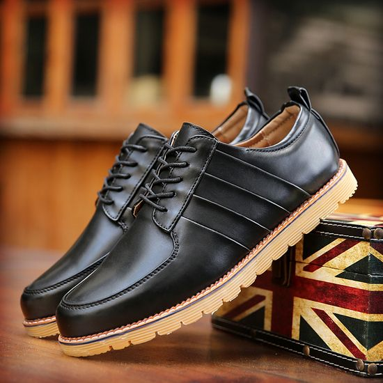Wrinkle Leather Casual Men Shoes British Style Vintage Lacing Martin Ankle Shoes Wedding Classic Exotic Men Casual Shoes Quality