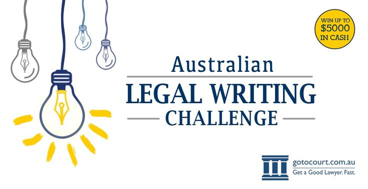 Go To Court Lawyers is proud to announce the inaugural Australian Legal Writers Challenge is now open! Over $6000 in prizes up for grabs! For details, go to: https://www.gotocourt.com.au/australian-legal-writing-challenge/
