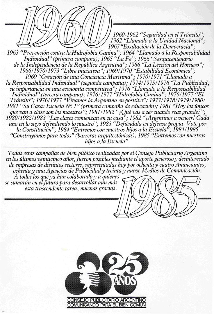 """25º aniversario""-1985"