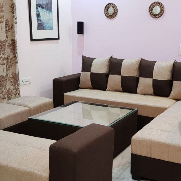 Sofa Set Ponperi Stylish Sofa Set With Center Table And Puffy At Best Price Wood Glass Top Center Sofa Table Li In 2020 Sofa Tables Living Room Sofa Set Center Table