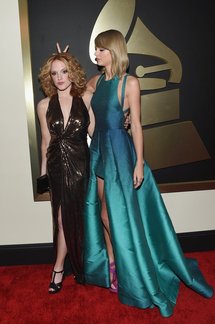 Pin for Later: 31 Reasons Taylor Swift Is Having a Ridiculously Awesome Year A Major Night With Her BFF On Feb. 8, Taylor took her longtime best friend Abigail to the Grammys with her.