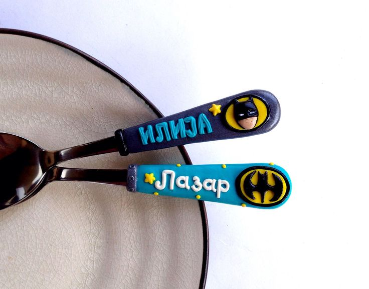 Available in my #etsy shop: Batman Cool Geek Gift for Kid or Boyfriend ❤️   #toys #giftforboy #personalizedgift #polymerclayspoon #batman #batmanparty #batmanlogo #kidnamegift #geek #coolgift #forhim