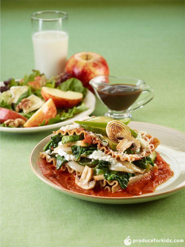 Slow Cooker Veggie Lasagna via @produceforkids