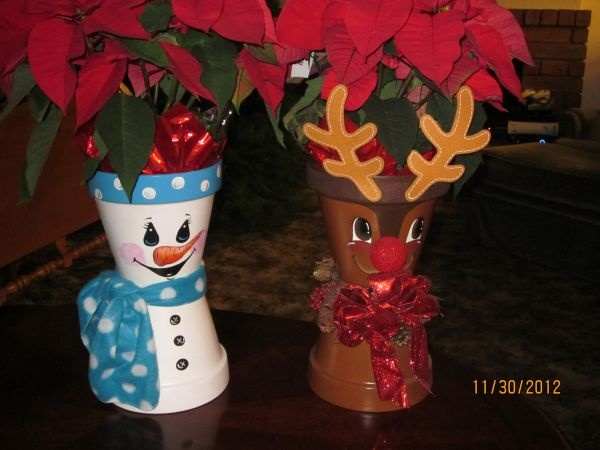 snowman and reindeer