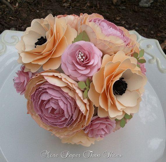 Handmade Paper Flowers - Wedding - Bouquet - Toss Bouquet - Custom Made - Any Color