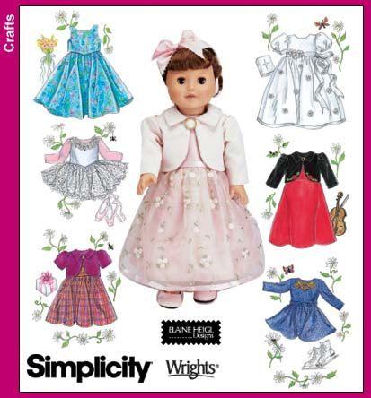 4364 18 Einfachheit in. Puppe Kleidung Partei von ucanmakethis