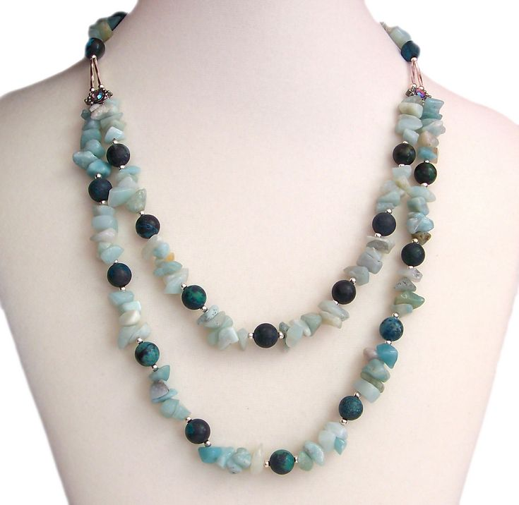Chunky, Funky Amazonite & Turquoise Necklace | by Kick Rox Jewelry