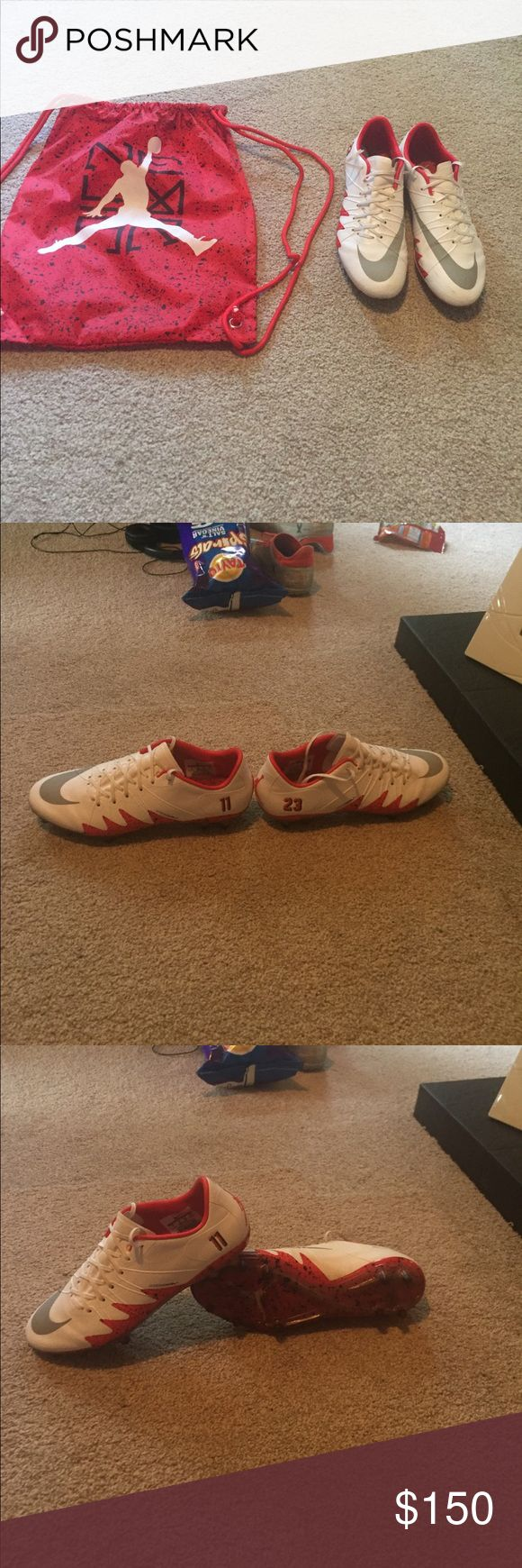 Size 7 Nike hypervenom Neymar x jordan cleats Worn once. Great condition. Nike Shoes Athletic Shoes