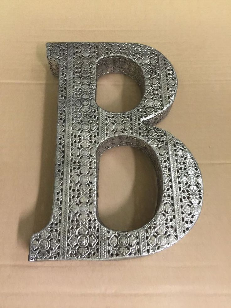 Metal Letter B Wall Decor : Best images about b s for the wall on