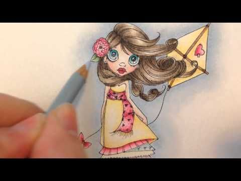 ▶ Coloring a background with Prismacolor Pencils and Mineral Spirits - YouTube