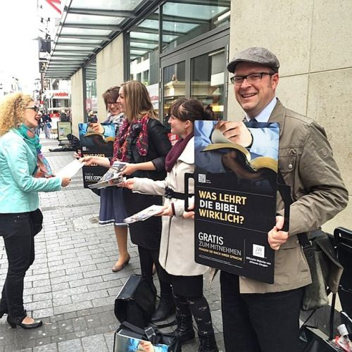 Public witnessing in Germany.