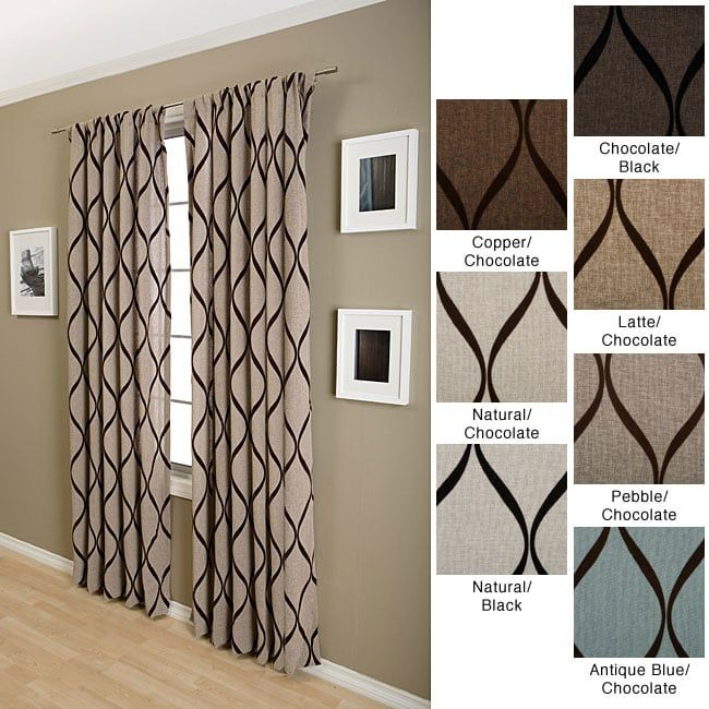 Softline Sahara Rod Pocket 120 Inch Curtain Panel Overstock Com