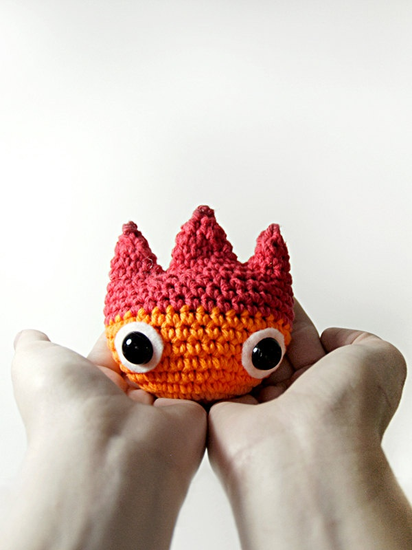 PATTERN - Calcifer Crochet Fire Demon Amigurumi. $4.00, via Etsy.