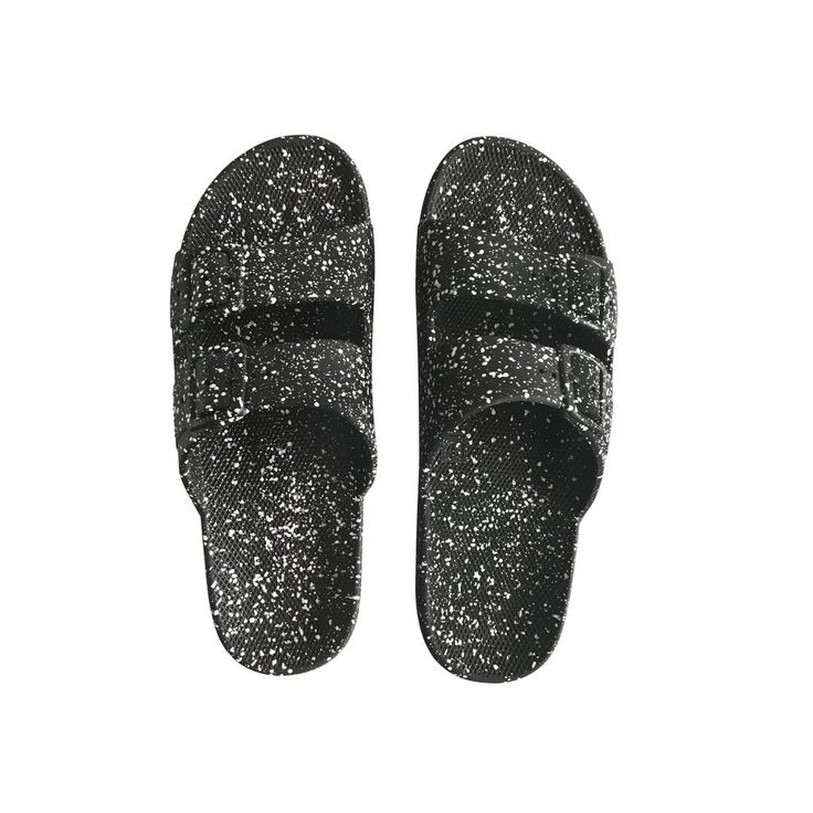 Moses Black Splatter - Plastic Sandals #achat #boys #fw1718 #fw1718-sync-trudaine #girls #shoes #tva_included