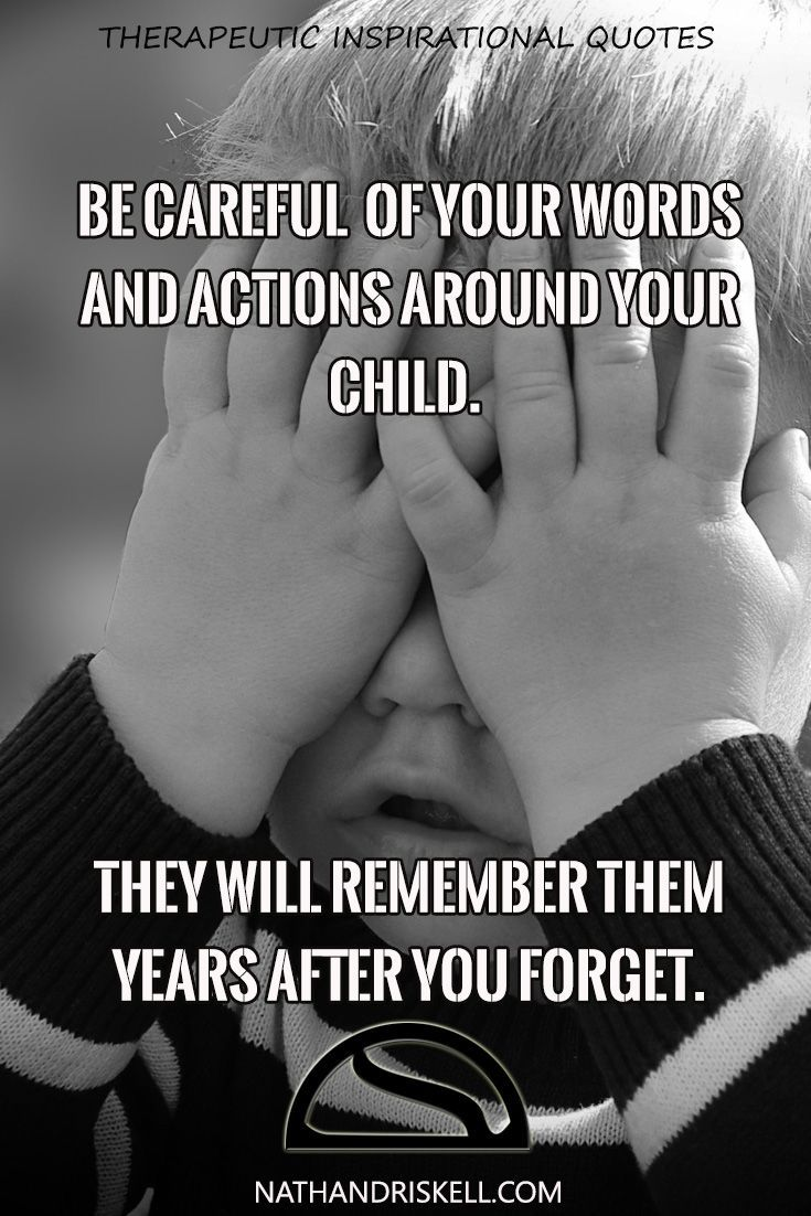 Children hear everything. Just because they are small does not mean they are not there. The words and actions you do around them will be modeled later in life. Your bad habits today will be your child's problems later. #children #actions #habits http://nathandriskell.com