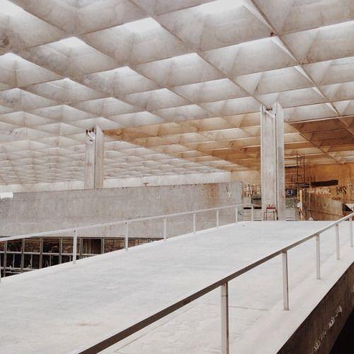 Waffle Slab Architectuur Interieur Ontwerp