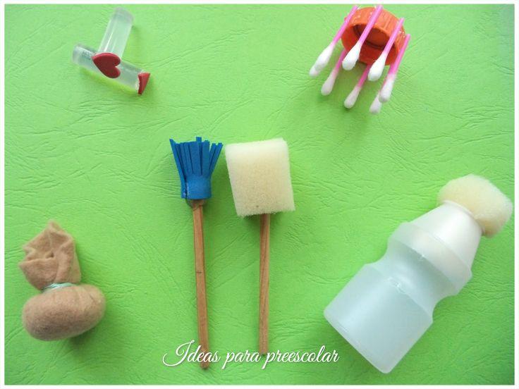 """Arte para niños""""Pinceles y esponjas divertidas"""""""