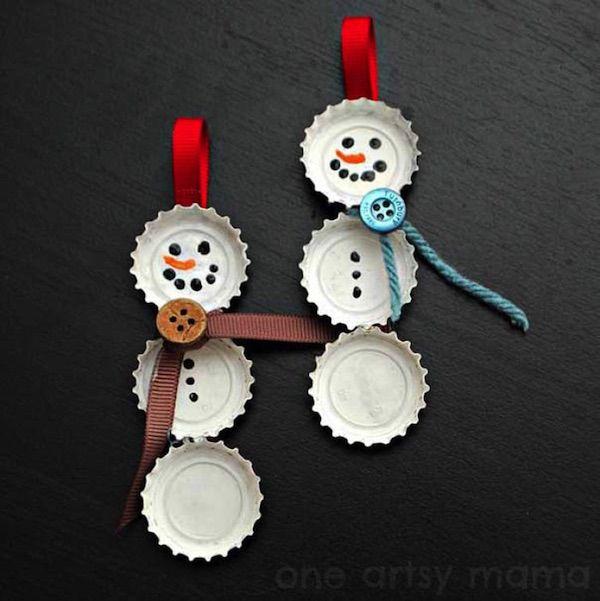 25 adornos navideños reciclados que son geniales. #navidad #manualidades #decoración #creatividad