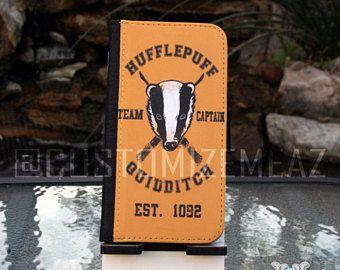 Samsung Galaxy S series and Note Phone Wallet Folio Case - Harry Potter Hufflepuff Quidditch Team Captain Handbook