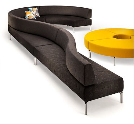 A public seating system, with minimal modules that can be connected into endless configurations.  It winds, twists & turns seemingly without a start or an end point, a public seating solution with endless possibilities...http://www.zenithinteriors.com.au/product/2482/mobius