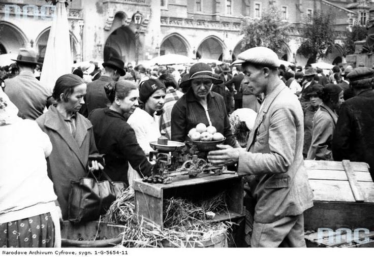 Handel uliczny w Krakowie , 1931