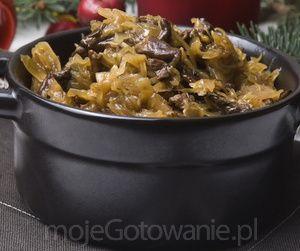 Kapusta z grzybami - MojeGotowanie.pl - Wigilia i Boże Narodzenie