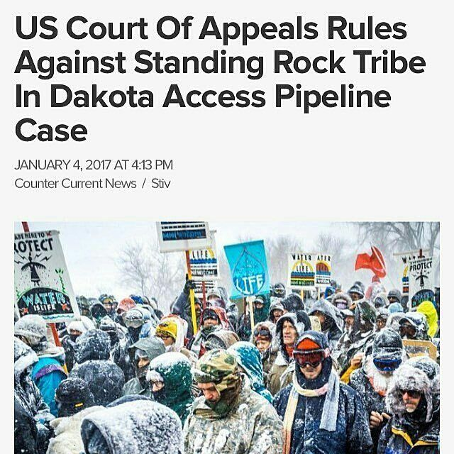 @Regrann from @chididdy26 -  @Regrann from @freedom_faction -  The U.S. Court of Appeals for the District of Columbia Circuit on Sunday rejected the #StandingRockSiouxTribes request for an injunction to halt construction of the #DakotaAccessPipeline by #Texas-based #EnergyTransferPartners. The announcement was made public by the #StandingRockSioux Tribe in a news release distributed within the past hour on Sunday evening.  The decision comes as the Tribe is pursuing an appeal to stop…