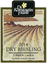 Dr. Konstantin Frank 2014 Dry Riesling (Finger Lakes) Rating and Review | Wine Enthusiast Magazine